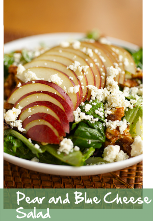 Pear and Blue Cheese Salad - Croutonstogo Restaurants