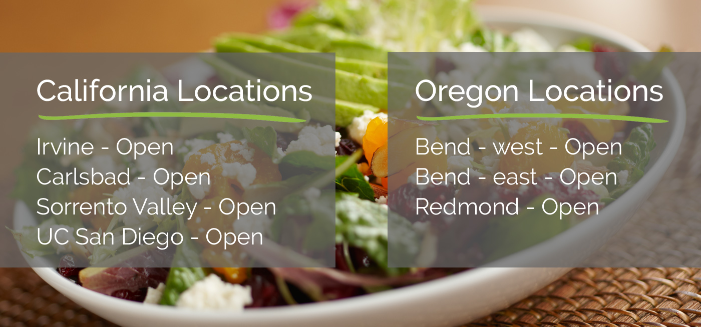 Croutons reopening image with text of each open location